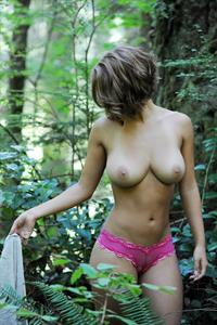 Abby Porter in lingerie - breasts