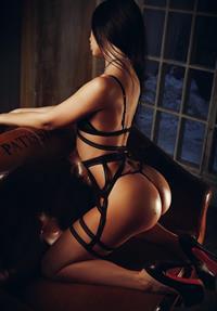 Gayana Bagdasaryan in lingerie - ass