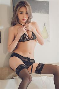 Fang Qi Yuan in lingerie