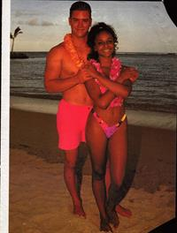 Lark Voorhies in a bikini