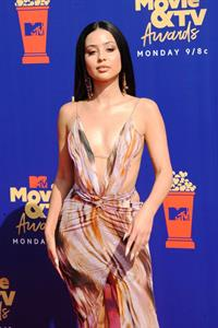 Alexa Demie braless boobs in a revealing dress on the red carpet at the 2019 MTV Movie and TV Awards.