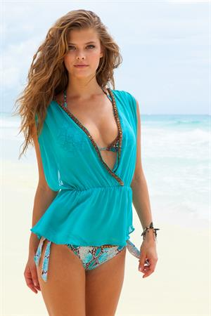 Nina Agdal – Sauvage Swimwear Resort 2014 Shoot 6/4-5/13