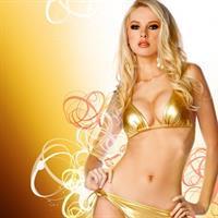 Tiffany Toth in a bikini