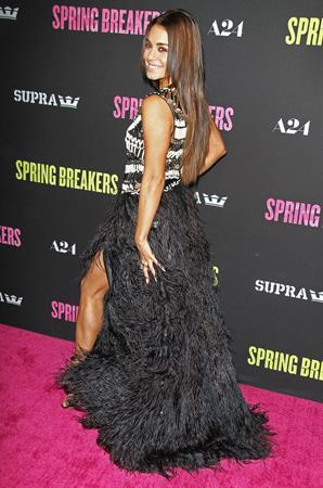 Vanessa Hudgens Spring Breakers premiere in LA 3/14/13