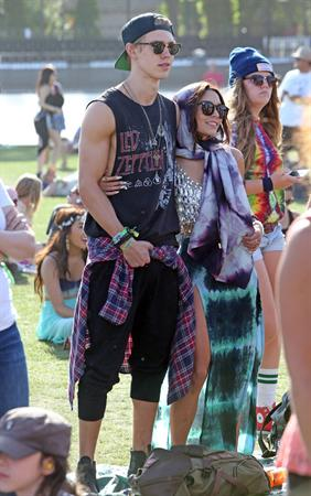 Vanessa Hudgens at Coachella Festival day 3 in Indio on April 14, 2013