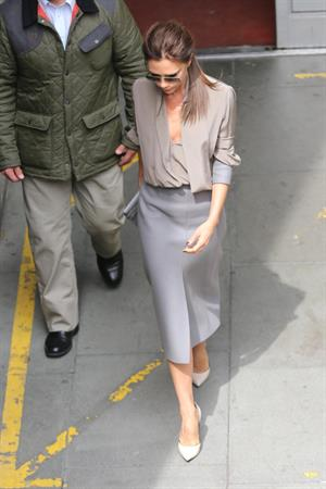 Victoria Beckham leaving London's Vogue Festival in London on April 28, 2013