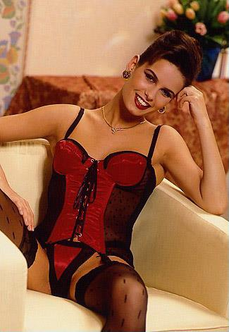 Claire Louise Hickory in lingerie