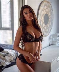 Francesca Farago in lingerie