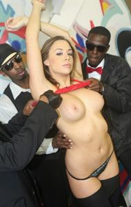 Penthouse Pet Chanel Preston about to take on a group of black guys down in the ghetto