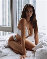 Cristy Ren modeling lingerie