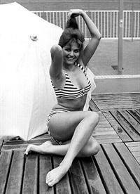 Claudia Cardinale in a bikini
