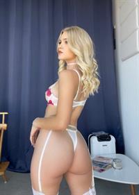 Jazlyn Ray modeling lingerie
