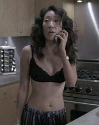 Sandra Oh in lingerie