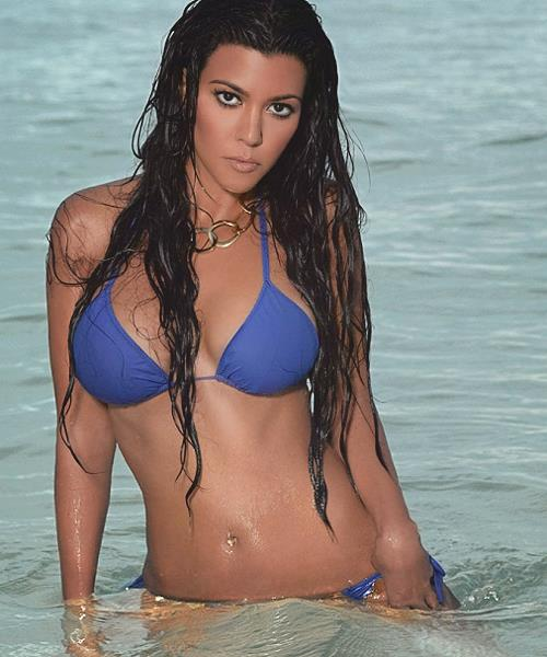 Kourtney Kardashian in a bikini