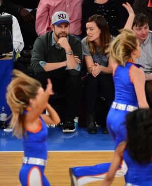 Olivia Wilde - Raptors vs Knicks game in NYC 3/23/13