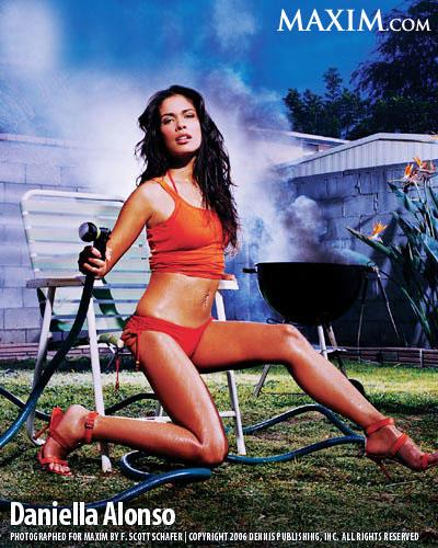 Daniella Alonso in a bikini