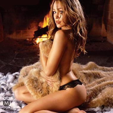 Autumn Reeser in lingerie