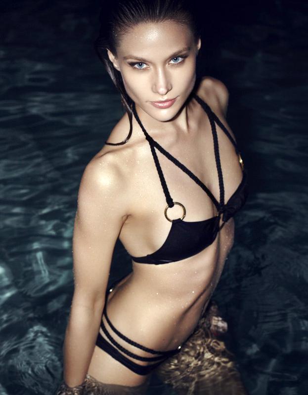 Astrid Hoegsted in a bikini