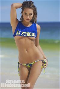 Hannah Davis in a bikini
