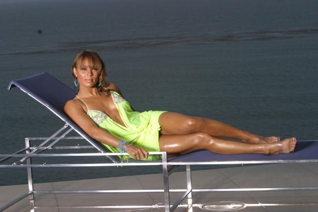 Tamia Hill in a bikini