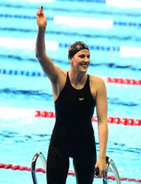 American Olympic Swimmer Missy Franklin won Gold in the 2012 Olympics