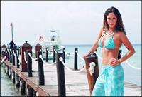 Anahí in a bikini