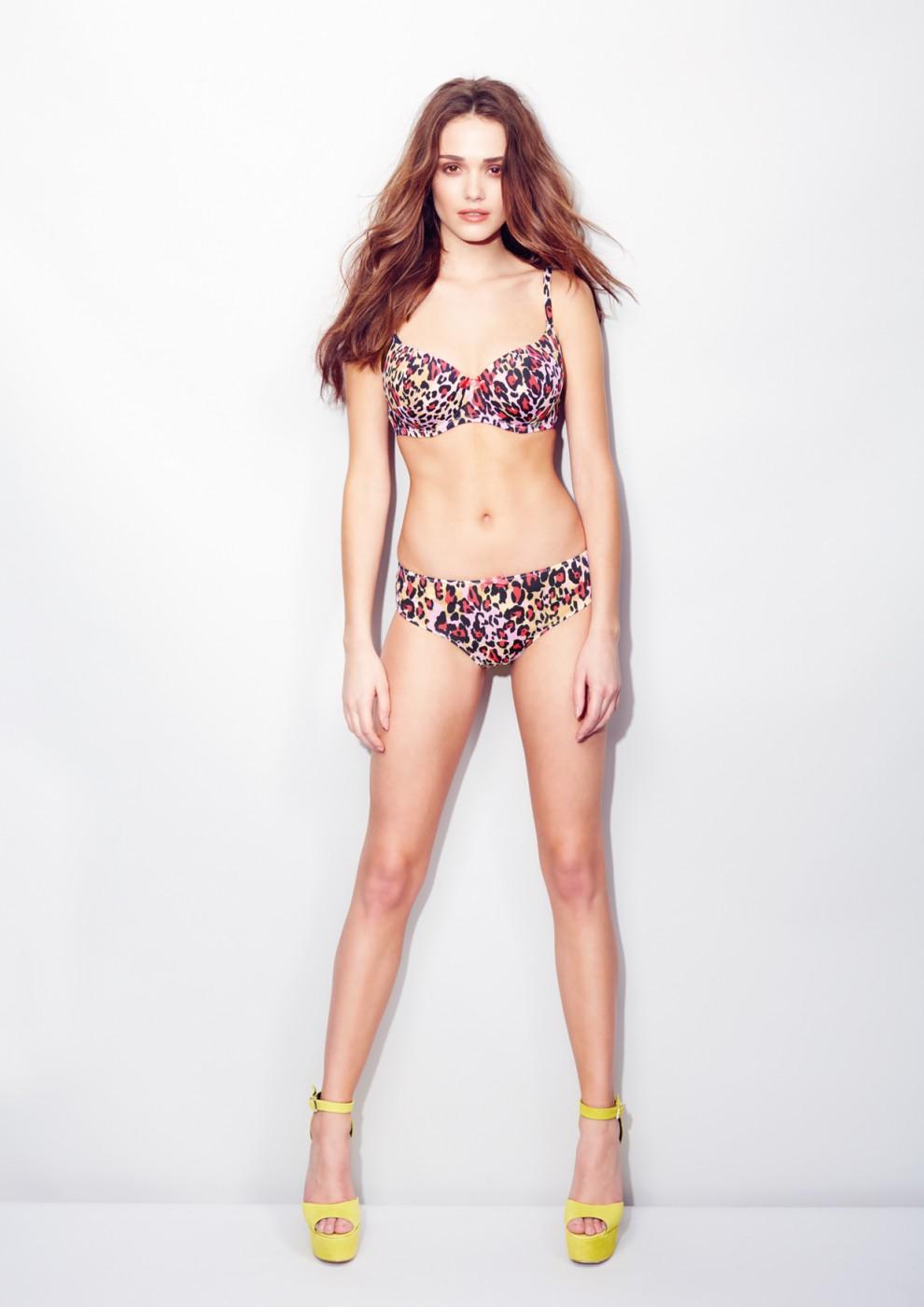 Amber Elkins Martinez in lingerie