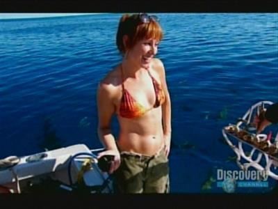 Kari Byron in a bikini