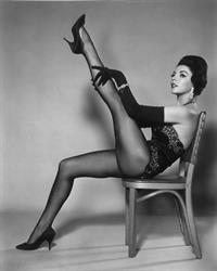 Joan Collins in lingerie