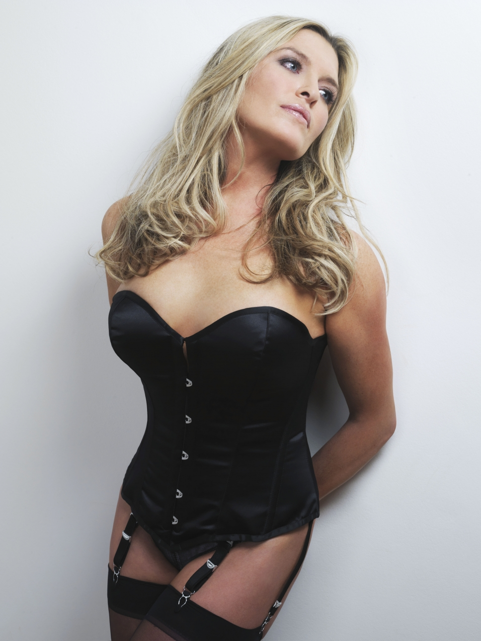 Tina Hobley in lingerie