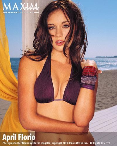 April Florio in a bikini