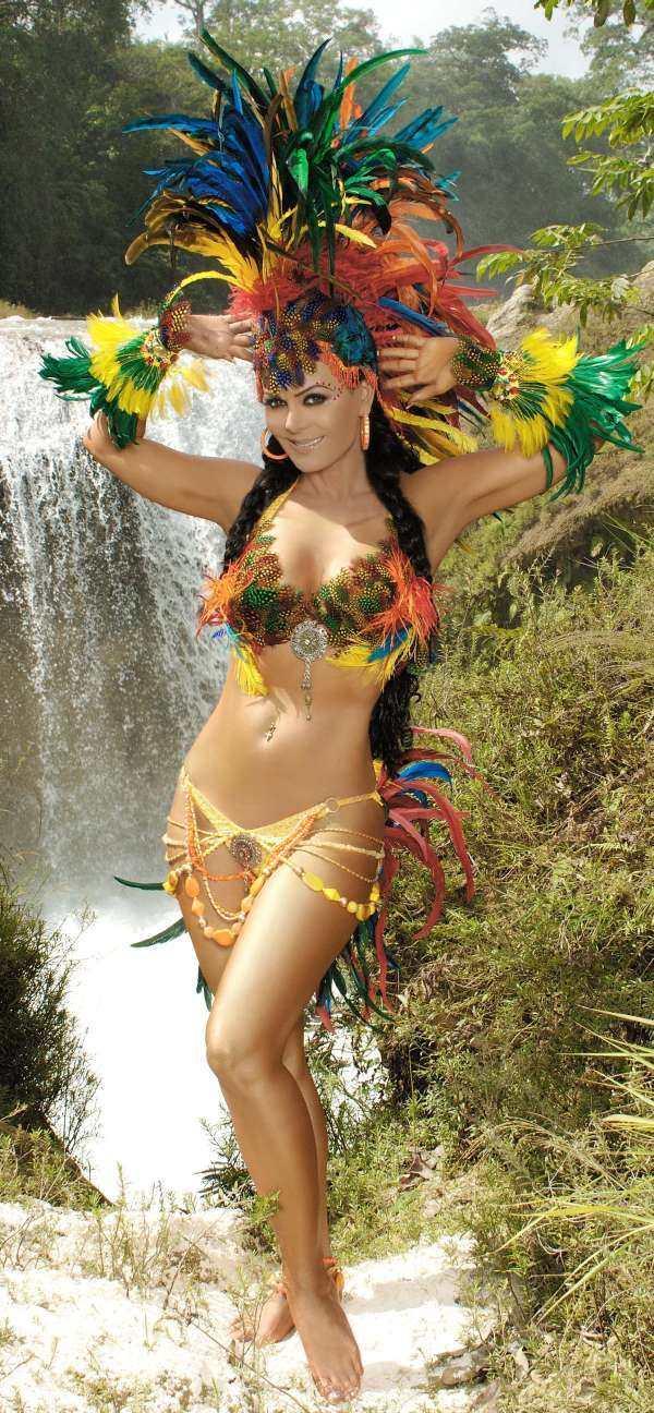 Maribel Guardia in a bikini