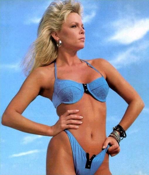 Lisa Hartman in a bikini