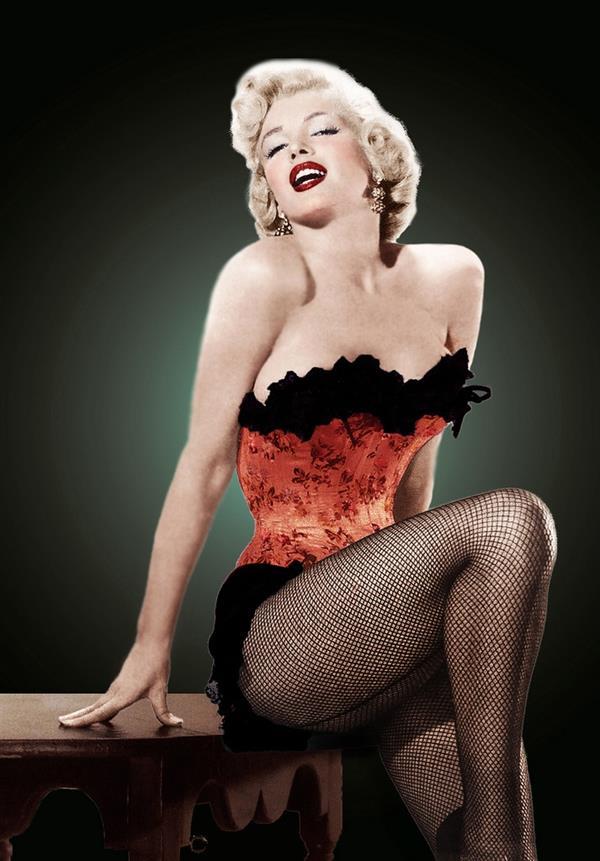 Marilyn Monroe in lingerie