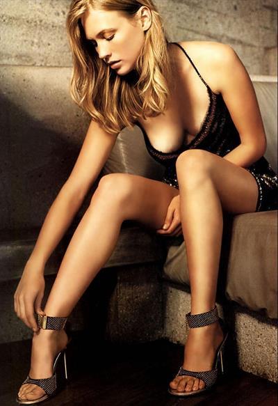 January Jones in lingerie