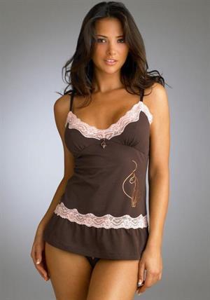 Alina Văcariu in lingerie - breasts