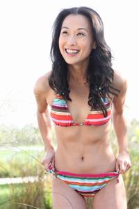 Nicole Bilderback in a bikini