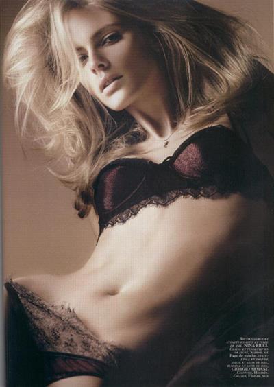 Julia Stegner in lingerie