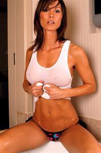 Melissa Wheat in lingerie